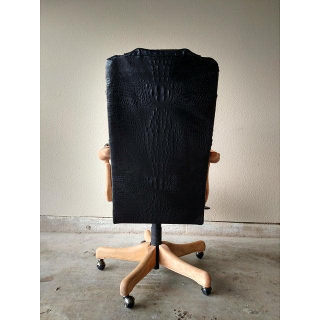 Black Lambskin Detroit Johnny Chair - Image 5 of 6