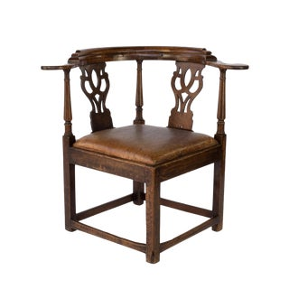 "Large Chippendale Period ""Roundabout"" Corner Chair, English, Circa 1760 For Sale"