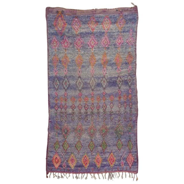 Vintage Moroccan Beni M'Guild Rug - 6′ × 10′9″ For Sale