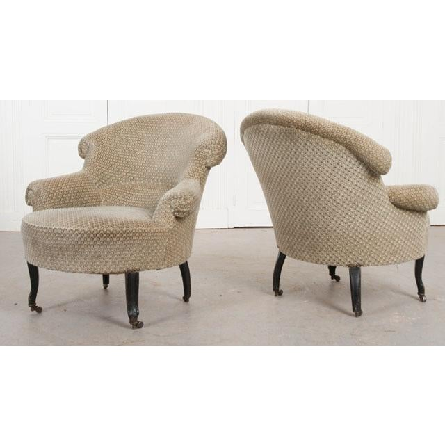 Pair of 19th Century English Upholstered Tub Chairs For Sale - Image 10 of 13