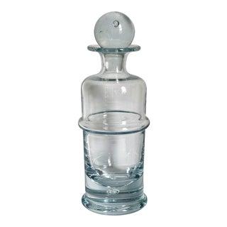 Modernist Crystal Glass Decanter For Sale