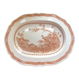Early 20th Century Antique Jacof Furnival English Quail Motif Platter For Sale