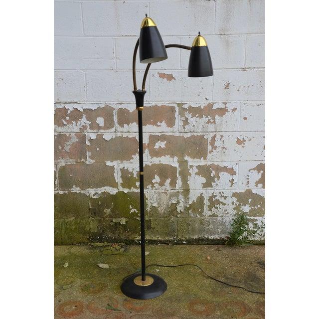 Gold Gerald Thurston Style Mid-Century Modern Gooseneck Floor Lamp For Sale - Image 8 of 8