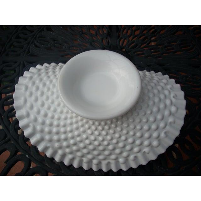 Hobnail Milk Glass Bowl For Sale - Image 4 of 4