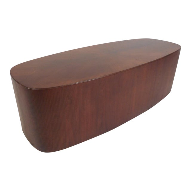 Mid-Century Modern Oval Coffee Table For Sale