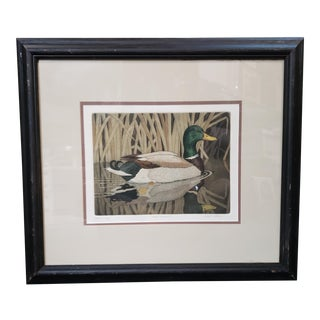 """20th Century John Akers """"Fall Favorite"""" Hand Colored Engraving Artist Proof, Louisiana For Sale"""