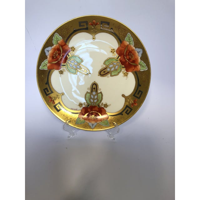 Hand painted 9 inch plate with a poppy design by Picard and signed A. Richter. This company imported fine china blanks...