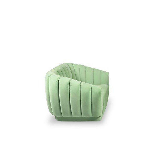 According to the Greek mythology, Oreas is the God of mountains. OREAS Single Sofa pays tribute to it. This channel-tufted...