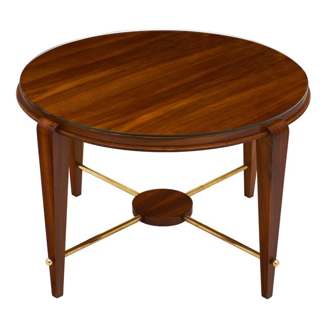 Art Deco Period Figured Walnut Gueridon Table For Sale - Image 10 of 10