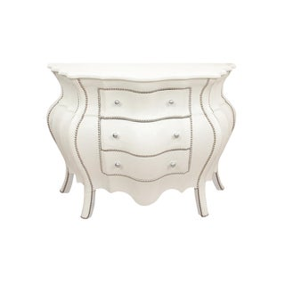 Bombay Chest of Drawers Wrapped in Faux Crocodile Skin For Sale