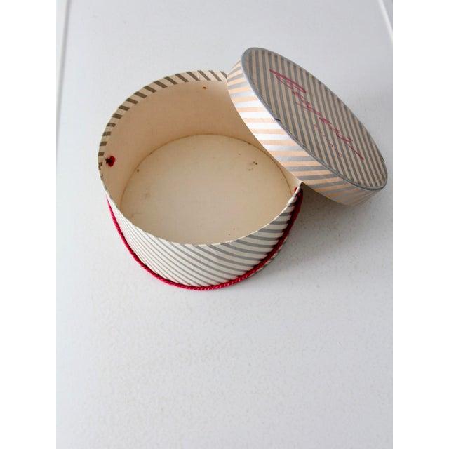 Cardboard Vintage Berger's Hat Box For Sale - Image 7 of 11