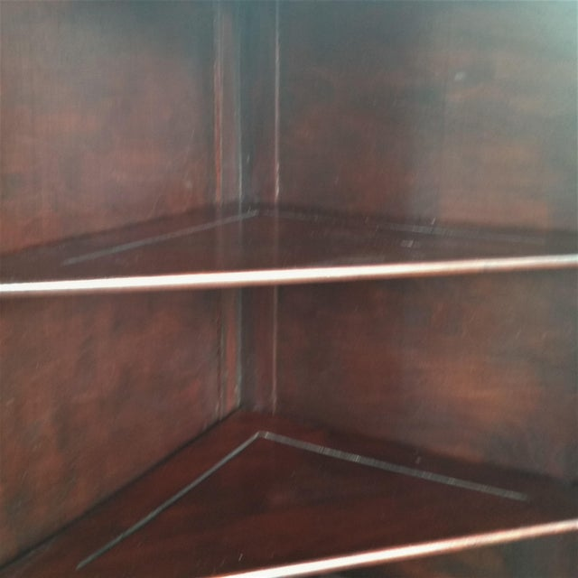 Antique Mahogany Corner China Cabinet For Sale - Image 10 of 13