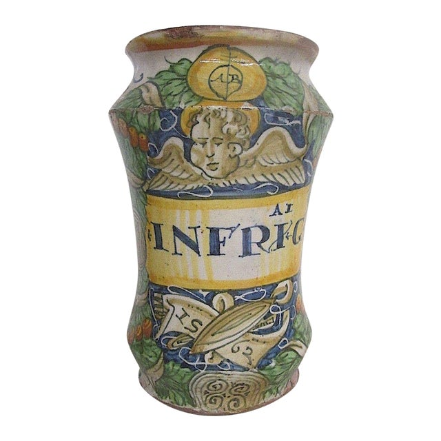 16th C. Italian Majolica Albarello Pharmacy Jar - Image 1 of 11