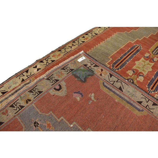 Early 20th Century Antique Caucasian Tribal Rug - 4′9″ × 9′8″ For Sale - Image 4 of 7