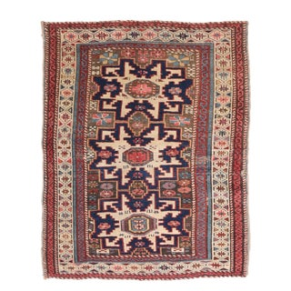 """Antique Shirvan Russian Rug-2'7"""" X 3'2"""" For Sale"""