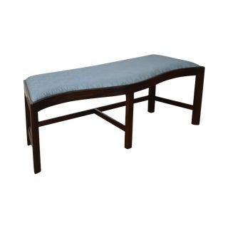 Madison Square Chippendale Style Mahogany Serpentine Long Bench