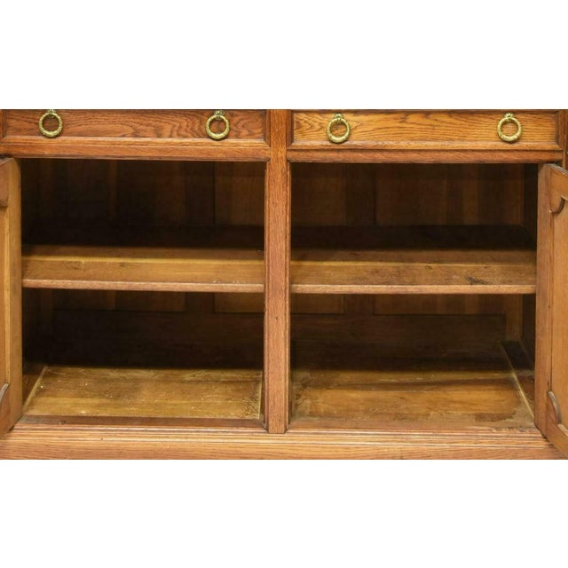 French 1900's Antique French Oak Display Cabinet For Sale - Image 3 of 6