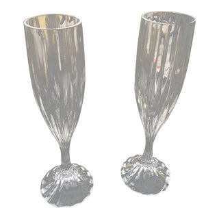 Mikasa Champagne Flutes - a Pair For Sale