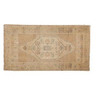 """Vintage Distressed Oushak Rug - 1'10"""" X 3'5"""" For Sale"""