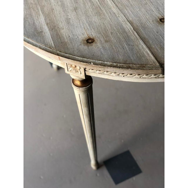 Faux Board and Tack Dining Table For Sale In West Palm - Image 6 of 10