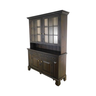 Hand Crafted Aged Finish Pine Pennsylvania Dutch Cupboard For Sale