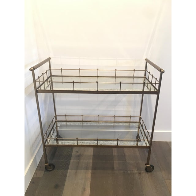 Contemporary Arteriors Home Lisbon Bar Cart For Sale - Image 3 of 3