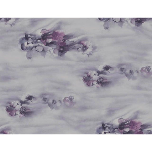 Iridescent Shimmer in Blue, Pink and Lilac Watercolor Floral Wallpaper - 1 Double Roll For Sale