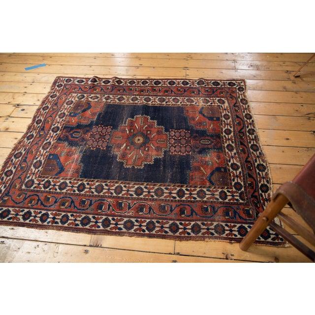 "Old New House Antique Fine Afshar Rug - 4'3"" x 5'2"" For Sale - Image 4 of 13"