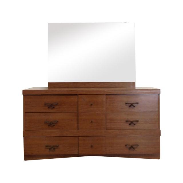 Mid Century Modern Dresser With Vanity Mirror - Image 1 of 9