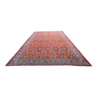 Boho-Chic Vintage Tribal Oushak Turkish Rug - 20' X 29' For Sale