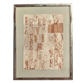 Vintage Modern Typography Letterist Collage by Czech Artist Eduard Ovcacek For Sale