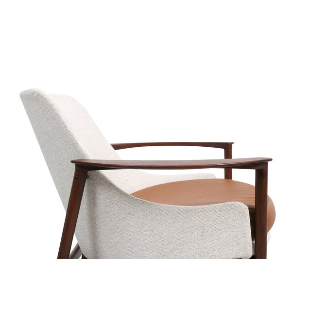 Kofod-Larsen for Selig Sculptural Walnut Lounge Chairs - a Pair For Sale - Image 10 of 13