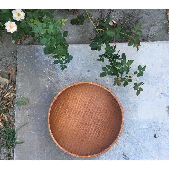 Large Winnowing Basket | Bohemian Boho Chic Wall Hanging | Tobacco Basket Flat Gathering Foraging | Large Textural Decor |...