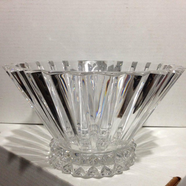 Mid 20th Century Rosenthal Crystal Fluted Art Deco Bowl For Sale In Los Angeles - Image 6 of 6