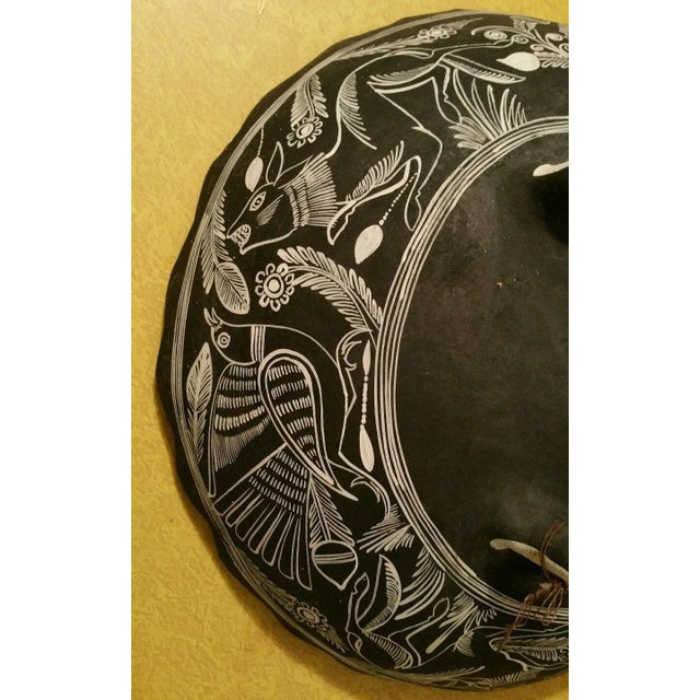 Mexican Handpainted Bowl With Birds, X. Guerrero - Image 4 of 8