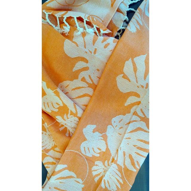 Coral & Orange Towalla Towel - Image 4 of 6