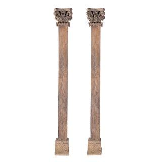 Antique Wood Carved Pillars
