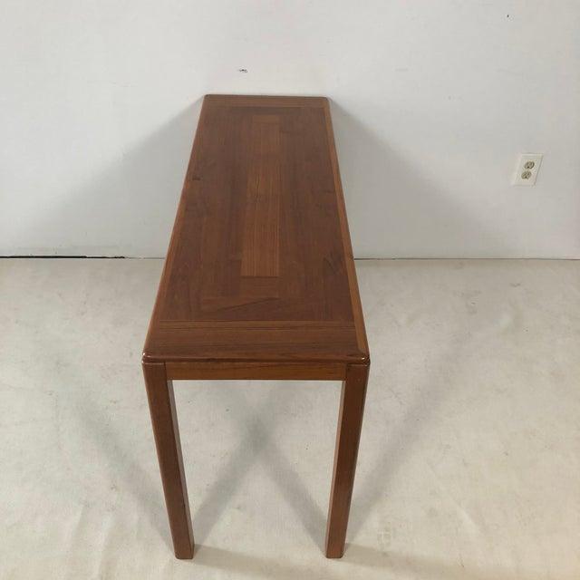 1970s Laurits M Larsen Danish Teak Console Table For Sale - Image 4 of 5
