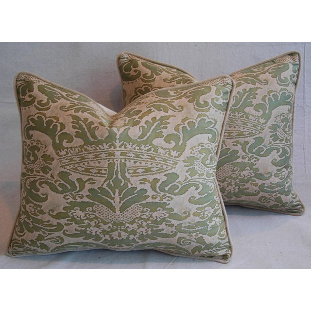 Italian Fortuny Corone Crown Down Pillows - A Pair - Image 2 of 11