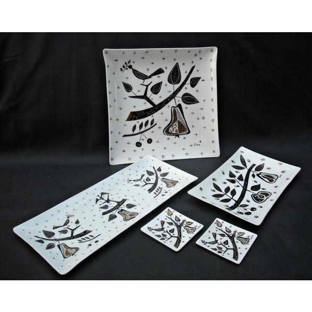 Mid-Century Milk Glass Serving Trays - Set of 5 - Image 2 of 6
