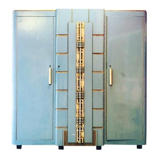 Most Extraordinary Modernist Art Deco Armoire For Sale
