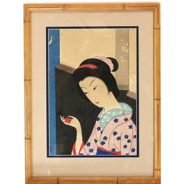 Original 1800s Japanese Asian Art Print - Image 1 of 6
