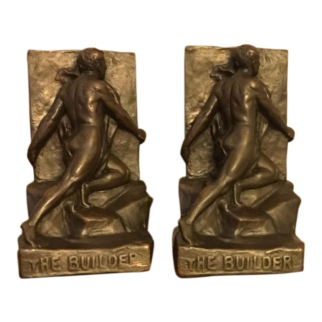 Signed Kileny Bronze Bookends - A Pair For Sale