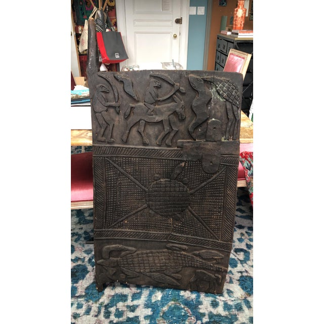 Early 20th Century Antique African Carved Wood Panel For Sale - Image 5 of 5