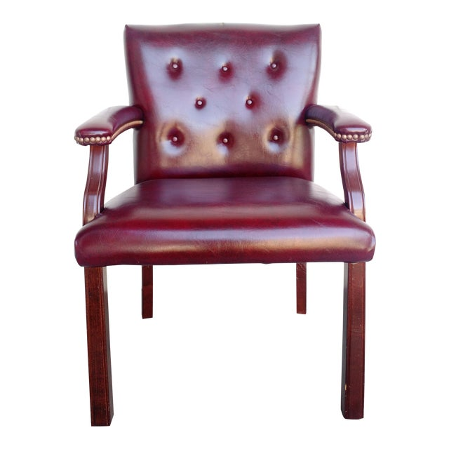 Oxblood Executive Guest Chair For Sale