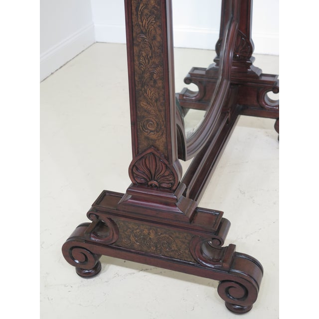 Traditional Maitland Smith Mahogany Cheval Dressing Mirror For Sale - Image 3 of 12