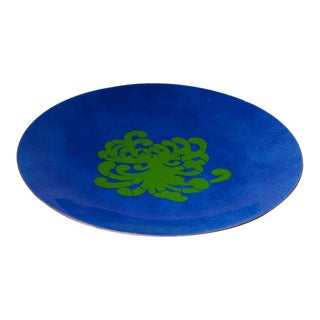Enamel on Copper Plate by Annemarie Davidson For Sale