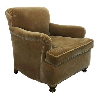 Early 21st Century Cigar Mohair Club Chair For Sale