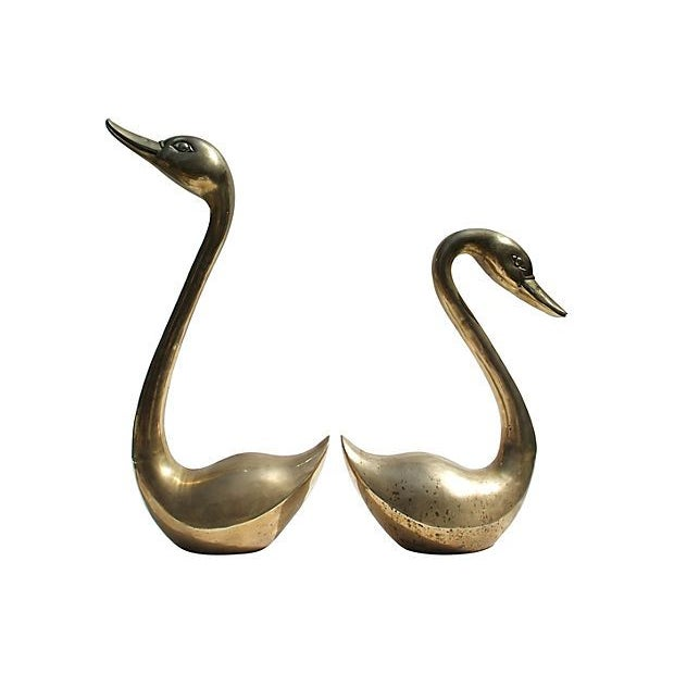 Brass Swan Family - Set of 4 - Image 3 of 6