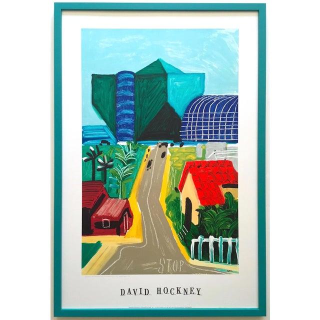 "David Hockney Rare Vintage 1989 Lithograph Print Framed Collector's Pop Art Poster "" Hancock St. West Hollywood 1 "" For Sale - Image 13 of 13"